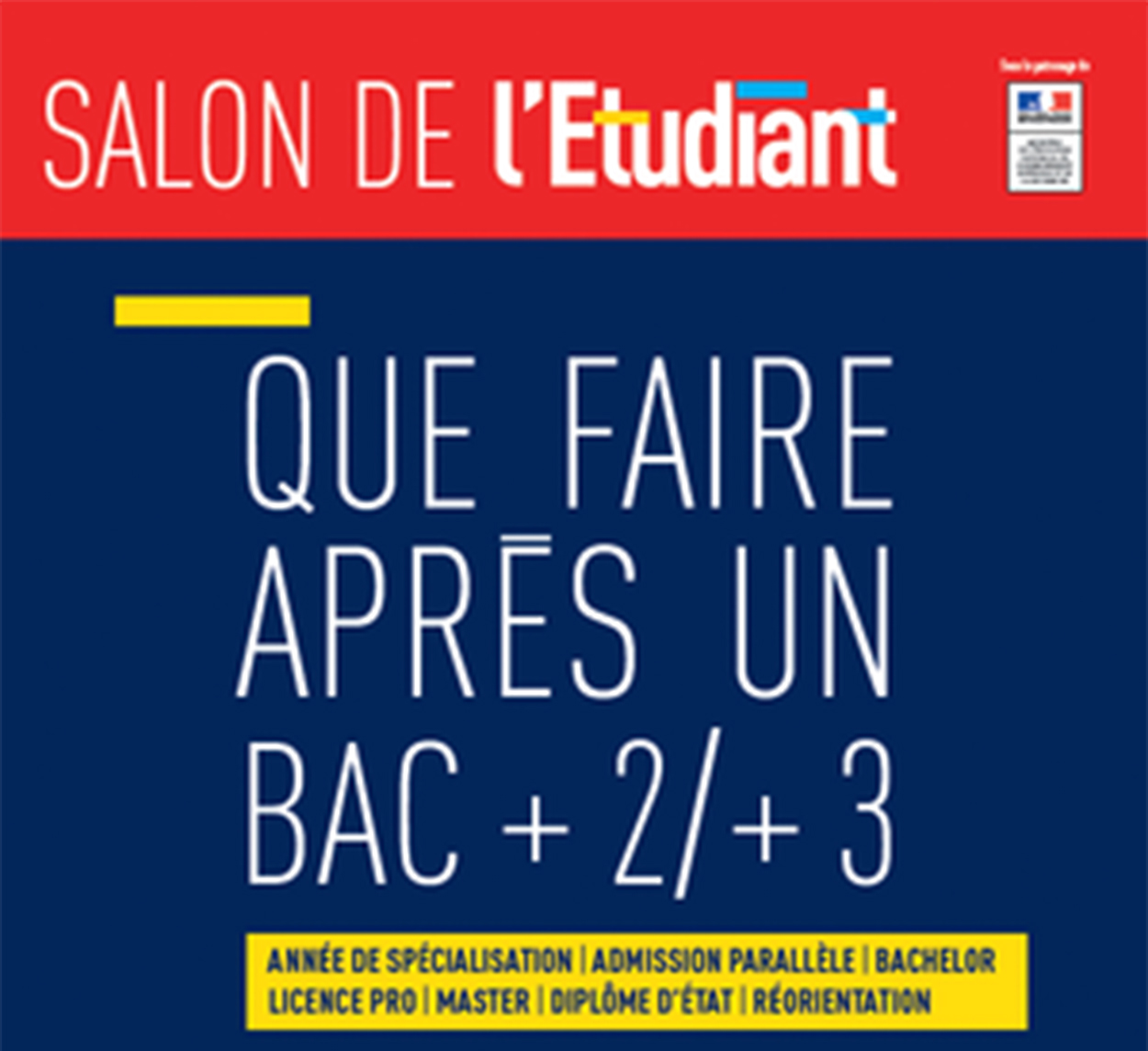 Que faire apr s un bac 2 3 samedi 25 f vrier 2017 for Porte de champerret salon de l etudiant